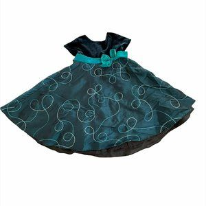 Good Lad Kids Girl's Navy and Black Polyester Sleeveless Dress Size US 2T